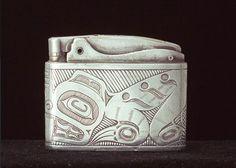The CANADIAN DESIGN RESOURCE - Beaver Design Cigarette Lighter Native Canadian, Canadian Artists, London School Of Design, Bill Reid, Charlotte City, Haida Gwaii, Haida Art, Indigenous Art, Native Art