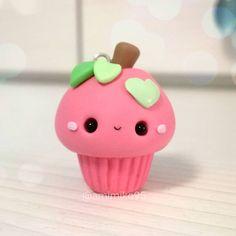 #kawaii #charms #polymer #clay #apple #cupcake #charm