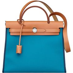Hermès Herbag Zip 31 Tilt bag ($2,250) found on Polyvore