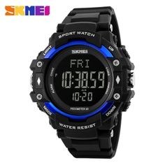 Strong-Willed Skmei Compass Men Watches 5atm Waterproof Digital Outdoor Sports Watch Men Backlight Countdown Wrist Watches Relogio Masculino Yet Not Vulgar Digital Watches