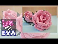 Rosa em E.V.A. sem Frisador Passo a Passo - Método Fácil - YouTube