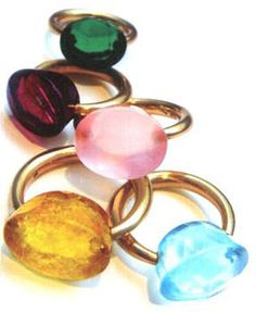 Color-stone rings by  Marie-Helene de Taillac