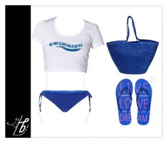 """""""Going to Swimming"""" by bgmmstore ❤ liked on Polyvore featuring Doug Johnston, Seilenna, Aéropostale, white, Blue, croptop, swimming and bgmmstore"""