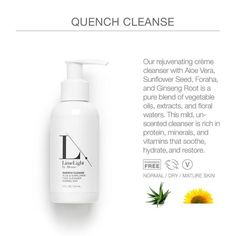 This mild, yet incredibly effective cleanser focuses on hydrating and balancing your skin, as well as calming common issues that arise with aging, sun damage, and troubled skin.