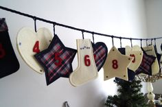Christmas sweets Calendar. Hanging Advent by vintagdesign on Etsy