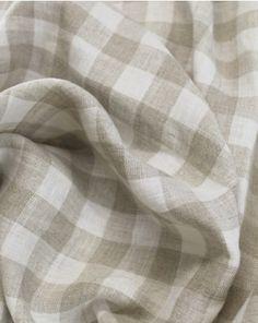 Beautiful medium weight linen in natural beige and cream gingham. Gingham Fabric, Linen Fabric, Ivory, Beige, Pure Products, Cream, Medium, Natural, Beautiful
