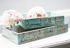 Distressed Barn Wood Served With Love Dessert Buffet Trays (item P10407) via Etsy
