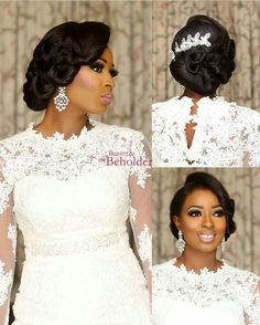 ❣Beautiful @missdarme MUA @beautyandthebeholdermakeovers | Dress @roseblossombridal #BellaNaijaWeddings