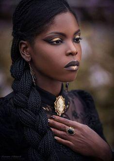 Afro Punk, Dark Beauty, Gothic Beauty, Ebony Beauty, Best Beauty Tips, Beauty Hacks, Black Girl Magic, Black Girls, Darkness Girl