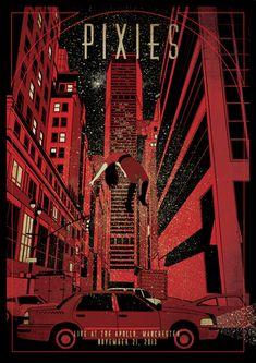 Y con este y otros pósters se inició nuestra serie de posts de diseñadores de música que tanto está gustando. Pixies.