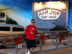 Believe it or not is a former surfer (bodyboarding style). At Ron Jon in Orlando FL.