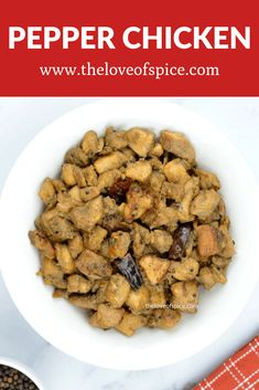 Indian Style Pepper Chicken Recipe - An easy and delicious Indian chicken appetizer for party that you can make ahead and keep, as it only gets better the next day! Chicken Recipes Restaurant Style, Chicken Lunch Recipes, Recipes With Chicken And Peppers, Indian Chicken Recipes, Chicken Stuffed Peppers, Indian Food Recipes, Pepper Chicken, Indian Appetizers, Chicken Appetizers