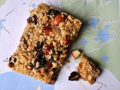 These chewy granola bars are packed with dried fruit and nuts.