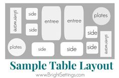 Try these easy tips and tricks for setting up a buffet table at your next event.                                                                                                                                                                                 More