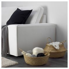 IKEA has many great items, not to mention really great affordable storage items, for all areas of your… Small Storage, Storage Boxes, Storage Baskets, Storage Containers, Sofa Kivik, Ikea Family, Pax Wardrobe, Box With Lid, Finding Nemo