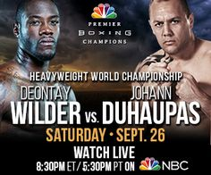 Here are the weigh in results for the upcoming WBC heavyweight tilte fight between Deontay 'The Bronze Bomber' wilder and Johann 'Reptile' Duhaupas. Bronze Bomber, Deontay Wilder, Boxing Champions, Wbc, Boxing News, Boxer, American, Boxer Pants, Boxer Dogs
