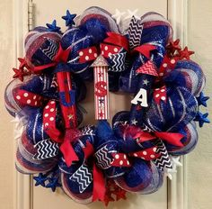 MARKED DOWN Rockets Red Glare Wreath 4th of by SouthTXCreations
