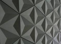 Revestimiento de formas y relieves geométricos