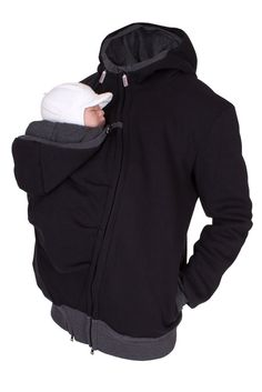 BRAND NEW <3 Viva la Mama | Baby wearing jacket for men! The casual handmade jacket (black - sweatshirt fabric) CARRY ME for baby wearing dads keeps your baby warm and close to the body. Dads can wear the jacket during the baby wearing period and after for everyday use.