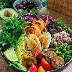 Healthy Food, Healthy Recipes, Vinaigrette, Lchf, Salads, Avocado, Eat, Vegetables, Healthy Foods