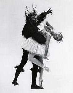 Cynthia Gregory and Robert Gladstein in Lew Christensen's Beauty and the Beast  Photo Courtesy of the San Francisco Ballet Archives/San Francisco Performing Arts Library and Museum, 1964