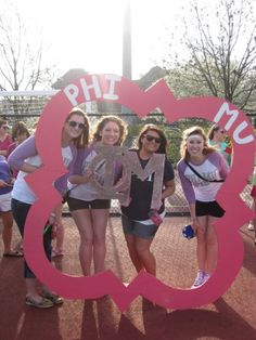 Big wooden quatrefoil...great for picture taking on bid day!