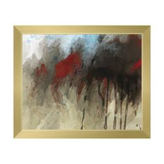 Click Wall Art 'Black in Motion' Framed Print of Painting