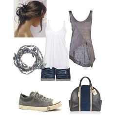 <3 both tanks. Casual Summer Outfit
