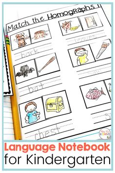 Help your students master those tricky Common Core Language standards with this kindergarten language interactive journal. Hands-on practice with phonics, grammar, and writing skills perfectly leveled for beginning learners. Kindergarten Classroom, Kindergarten Activities, Sounding Out Words, Interactive Journals, Letter Formation, Help Teaching, Beehive, Writing Skills, Phonics