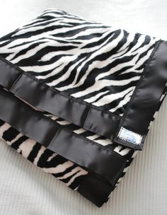 Zebra Minky Baby Blanket with Purple Fabric Back Made To Order. $35.00, via Etsy.