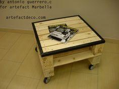 #table #wood #palett #creation #by #antonio #Guerrero  #for #atelier #artefact #Marbella #exclusive for #artefact #table # palett #original #pocket #vinyl #design #decoration #light #outdoor #interior #furniture #vintage #marbella #spain #recycled #music  www.artefactdeco.com