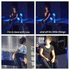 "I still can't get over this, was such a precious moment. And Louis is just like: ""Harold Styles. What are you doing? Managment will KILL you. Babe, no. There's an audience! We're in trouble."""