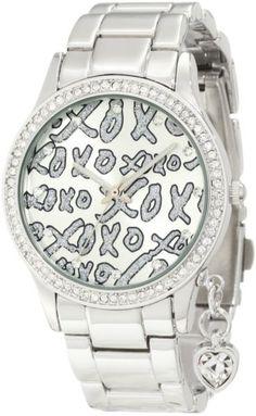 XOXO Women's XO5144 Silver-Tone Bracelet With Heart Charm Watch in UAE | Souq