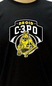 Camiseta C3PO Droid - Camisetas Personalizadas, Engraçadas e Criativas