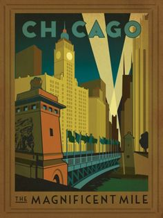 Retro Feel American Travel Posters – The Anderson Design Group