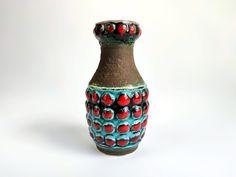 BAY Keramik Fat Lava Vase West German Pottery Vase Form 64 | Etsy Pottery Vase, Or Antique, Lava, Mid-century Modern, I Shop, Vintage Items, Bubbles, 6 Inches, Turquoise