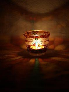 Svietnik na čajovú sviečku - Dragonfly by E.G.ART - SAShE.sk - Handmade Svietidlá a sviečky