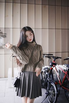 Korean Fashion Fall, Korean Fashion Dress, Korea Fashion, Comfortable Outfits, Cute Casual Outfits, Girl Outfits, Fashion Outfits, Korean Outfit Street Styles, Korean Outfits