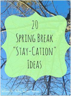 20 Spring Break Stay-cation ideas by @melissakaylene from #mondayfundayparty!
