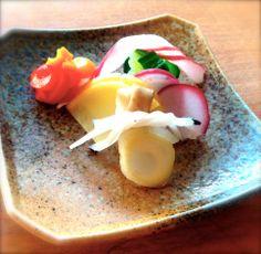 Japanese gastronomy -pickles japonaise de légumes d'été marinés au sel- www.iloli-restaurant.com