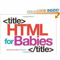 HTML book for babies #geek $8.99