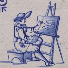 Schilder aan zijn ezel, ca.1630-1660
