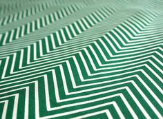 "Emerald Green Chevron Home decor Fabric  - ""Delicate Chevron - Teal""- Cotton/Linen ( fat quarter 27""x18"") ships in a week. $12.00, via Etsy."