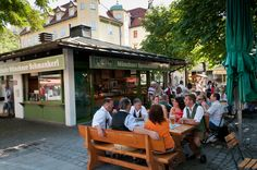 Viktualienmarkt in Munich, Germany.