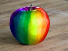 Rainbow apple. For more great pins go to @KaseyBelleFox
