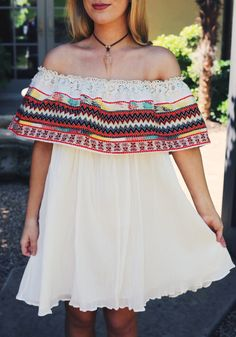 Obsessed with this off the shoulder dress!