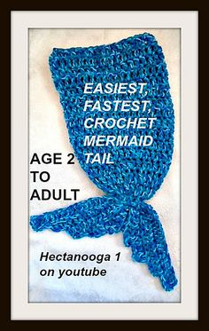 FREE CROCHET PATTERN, Mermaid Tail, all sizes from 2 years up to adult large.