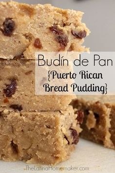 Budín de Pan. A delicious Puerto Rican bread pudding recipe that is as good as it looks!
