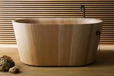 Ofuro Wooden Bath by Matteo Thun    Inspired by the Japanese bath that serves as a treat to relax and  recuperate...