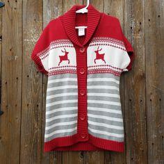 Gymboree Girls Size Small 5-6 Winter Holiday Short Sleeve Sweater Dress #Gymboree #Dress #Holiday